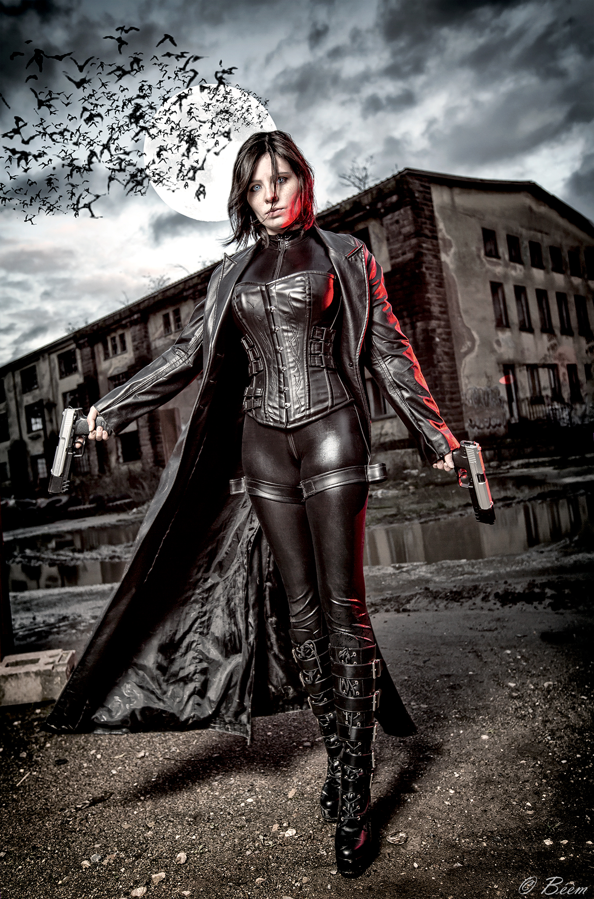 "German cosplayer NiKcKu Cosplay as Selene from ""Underworld;"" photo by ..."