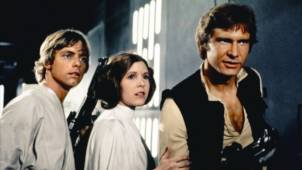 "Luke, Leia and Han from ""Star Wars"""