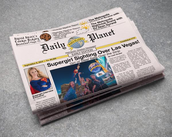 Las Vegas Edition of The Daily Planet Newspaper