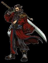 Artwork: Auron, from Final Fantasy X