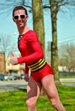 Taylor Brandon Cosplays as Plastic Man
