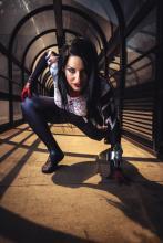 Cosplayer Silk Jen Casle as Spider-Gwen