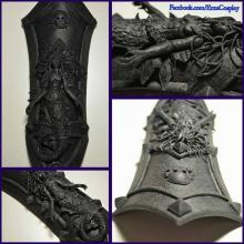 Bits of Cosplay Armor Fashioned from Black Worbla