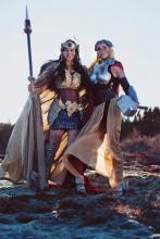 Meagan Marie Cosplays as Valkyrie Wonder Woman, Reilena as Thor
