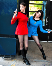 Cosplayers The Cosplay Scion and Paper-Stars as Trek Engineer and Science Officer