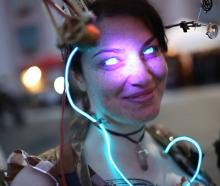 Steampunk World's Fair 2015 - Girl with Glowing Eyes